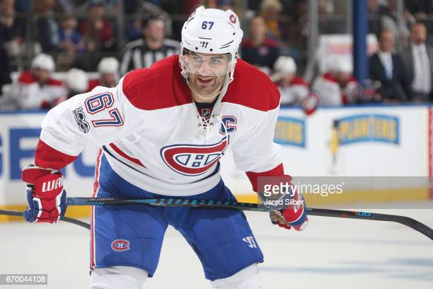 Max Pacioretty of the Montreal Canadiens looks on against the New York Rangers in Game Three of the Eastern Conference First Round during the 2017...