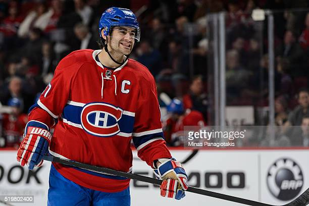 Max Pacioretty of the Montreal Canadiens reacts during the NHL game against the Florida Panthers at the Bell Centre on April 5 2016 in Montreal...