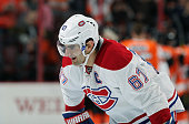 Max Pacioretty of the Montreal Canadiens reflects following a 43 loss against the Philadelphia Flyers on January 5 2016 at the Wells Fargo Center in...