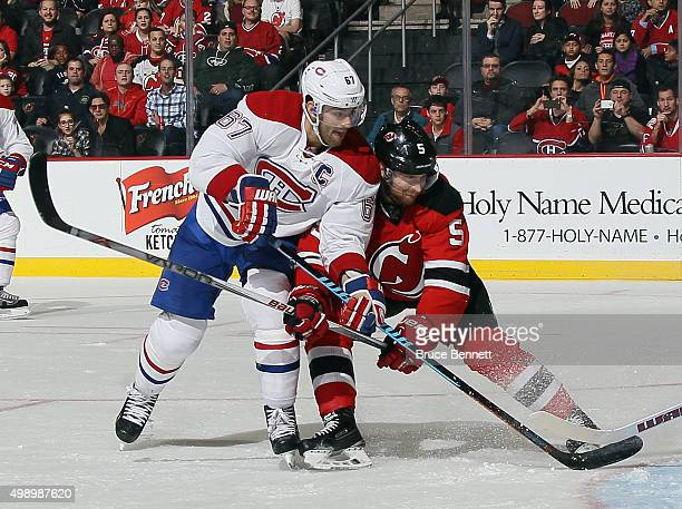 Max Pacioretty of the Montreal Canadiens skates against the New Jersey Devils at the Prudential Center on November 27 2015 in Newark New Jersey The...
