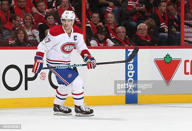 Max Pacioretty of the Montreal Canadiens skates against the Ottawa Senators at Canadian Tire Centre on October 11 2015 in Ottawa Ontario Canada