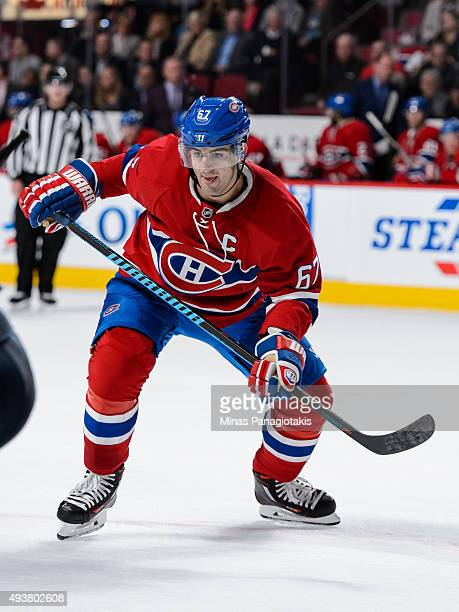 Max Pacioretty of the Montreal Canadiens skates during the NHL game against the St Louis Blues at the Bell Centre on October 20 2015 in Montreal...