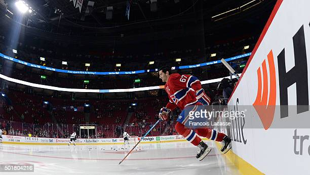 Max Pacioretty of the Montreal Canadiens skates onto the ice prior to NHL game against the Los Angeles Kings in the NHL game at the Bell Centre on...