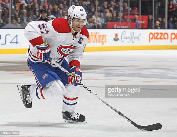 Max Pacioretty of the Montreal Canadiens skates with the puck against the Toronto Maple Leafs during an NHL game at the Air Canada Centre on January...