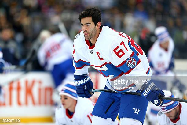 Max Pacioretty of the Montreal Canadiens warms up prior to the 2016 Bridgestone NHL Winter Classic against the Boston Bruins at Gillette Stadium on...