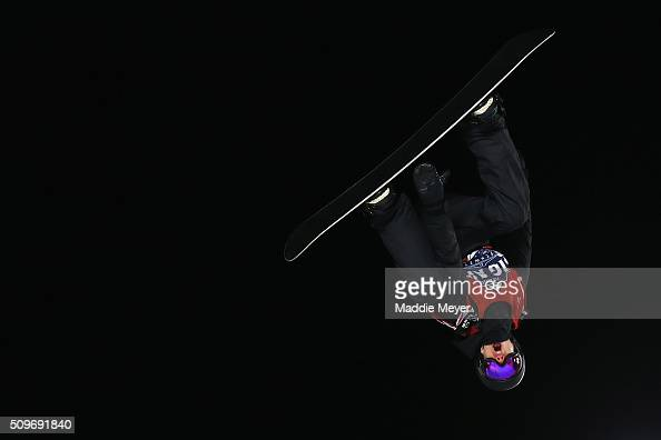 Max Parrot of Canada competes in the Men's Snowboarding finals during Polartec Big Air Day 1 at Fenway Park on February 11 2016 in Boston...