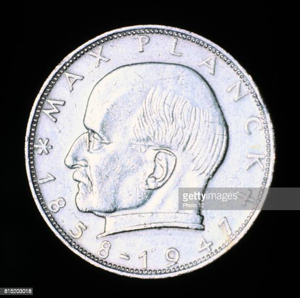 Max Planck German theoretical physicist Quantum Theory Nobel prize for physics 1918 From the obverse of a German 2 DM piece