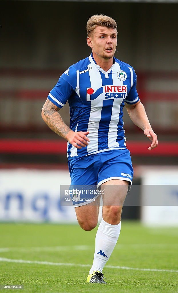 Max Power of Wigan Athletic in action during the pre season friendly between Altrincham and Wigan Athletic at the J Davidson stadium on July 14 2015...