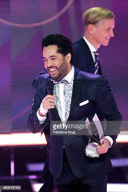 Max Raabe and Adel Tawil attend the Echo Award 2014 show on March 27 2014 in Berlin Germany