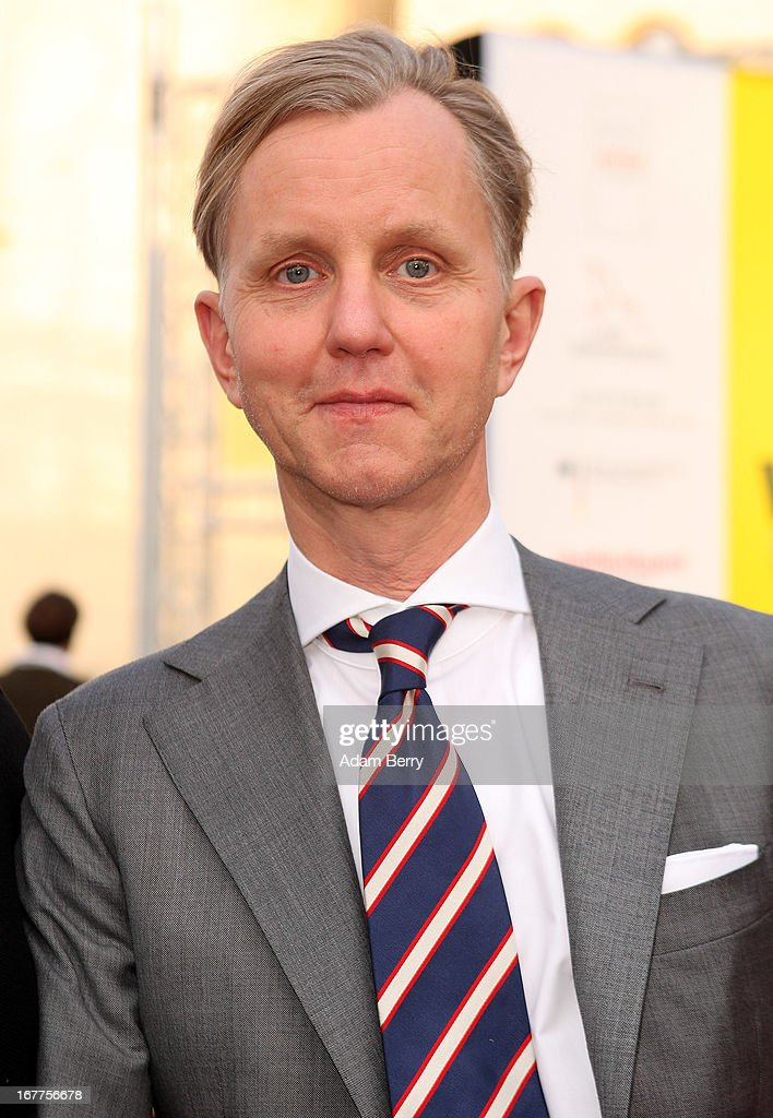 <a gi-track='captionPersonalityLinkClicked' href=/galleries/search?phrase=Max+Raabe&family=editorial&specificpeople=5103306 ng-click='$event.stopPropagation()'>Max Raabe</a> arrives for the opening of the 19th Jewish Film Festival Berlin & Potsdam on April 29, 2013 in Potsdam, Germany. The festival was founded in 1995 on the 50th anniversary of the end of World War II.
