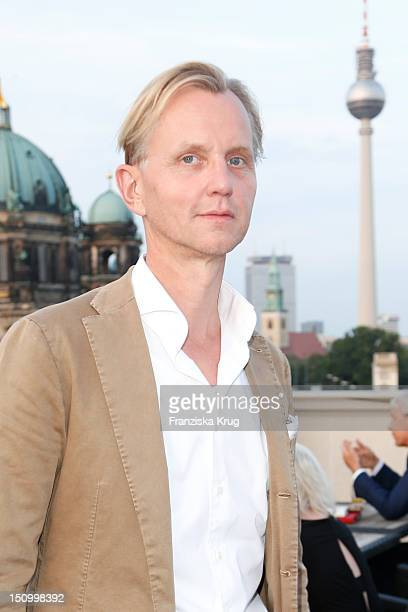 Max Raabe attends the 'Langenscheidts Handbuch zum Glueck' book launch at the Bertelsmann representative office on August 22 2012 in Berlin Germany