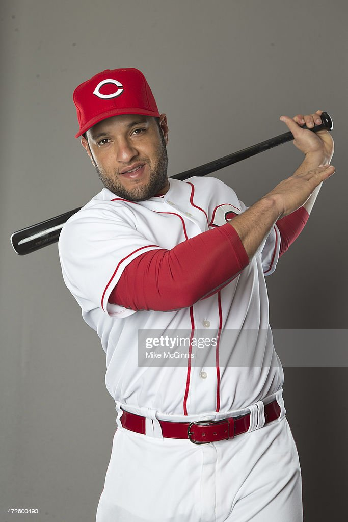 <a gi-track='captionPersonalityLinkClicked' href=/galleries/search?phrase=Max+Ramirez&family=editorial&specificpeople=4175170 ng-click='$event.stopPropagation()'>Max Ramirez</a> #71 of the Cincinnati Reds poses during picture day on February 20, 2014 at Goodyear Park in Goodyear, Arizona.