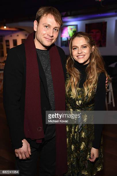 Max Riemelt and Teresa Palmer attend Park City Live Presents The Hub Featuring The Marie Claire Studio and the 4K ULTRA HD Showcase Brought to You by...