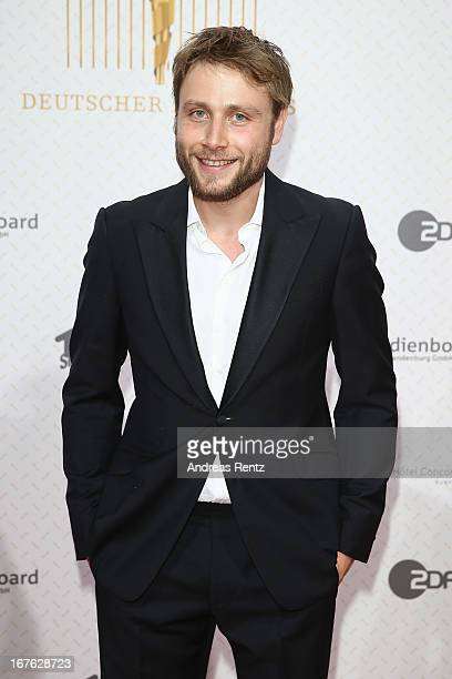 Max Riemelt arrives for the Lola German Film Award 2013 at FriedrichstadtPalast on April 26 2013 in Berlin Germany