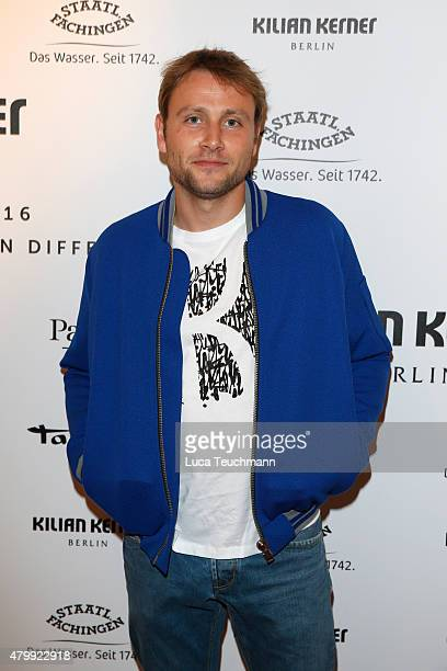 Max Riemelt attends the Kilian Kerner show during the MercedesBenz Fashion Week Berlin Spring/Summer 2016 at on July 8 2015 in Berlin Germany