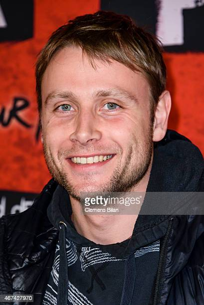 Max Riemelt attends the premiere of the film 'Tod den Hippies Es lebe der Punk' at UCI Kinowelt on March 24 2015 in Berlin Germany