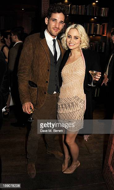 Max Rogers and Kimberley Wyatt attends the Esquire and Tommy Hilfiger party celebrating London Collections MEN AW13 hosted by Esquire editor Alex...