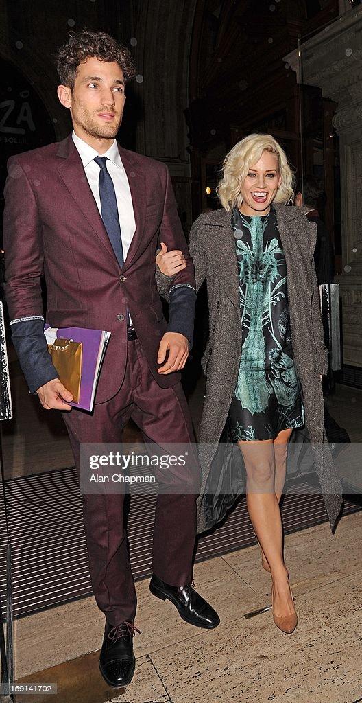 Max Rogers and Kimberley Wyatt sighting at The Royal Albert Hall on January 8, 2013 in London, England.