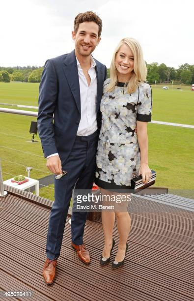 Max Rogers and Kimberly Wyatt attend day two of the Audi Polo Challenge at Coworth Park Polo Club on June 1 2014 in Ascot England