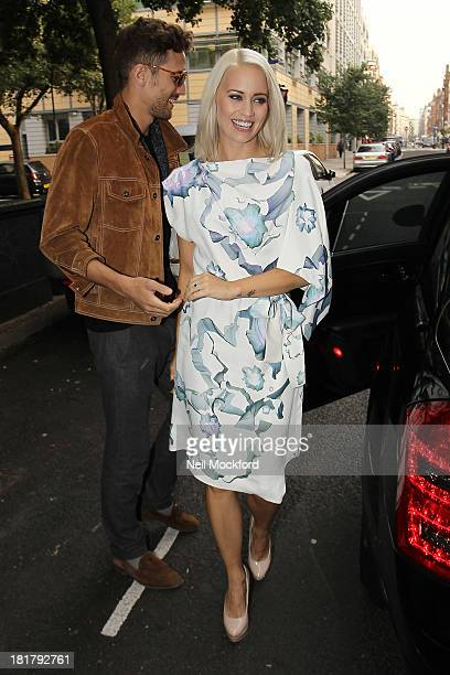 Max Rogers and Kimberly Wyatt seen arriving at KEY Fashion launch at Vanilla on September 25 2013 in London England