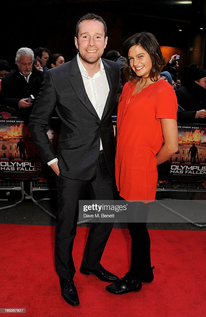 Max Rushden (L) attends the UK Premiere of 'Olympus Has Fallen' at BFI IMAX on April 3, 2013 in London, England.