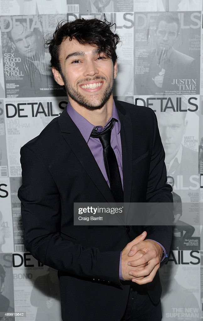 Max Schneider attends the DETAILS magazine 15th anniversary celebration on September 24 2015 in New York City