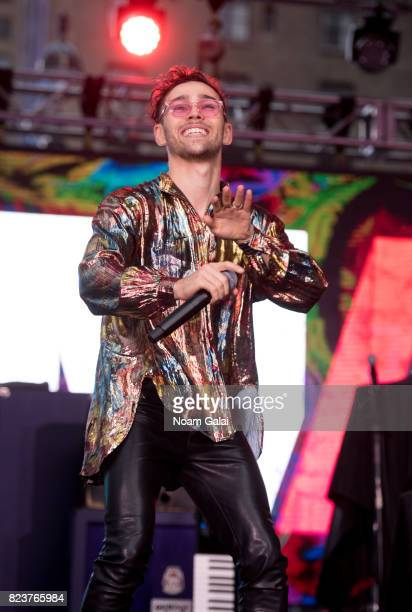 Max Schneider performs at Elvis Duran's 2017 Summer Bash at the Pennsy Plaza on July 27 2017 in New York City
