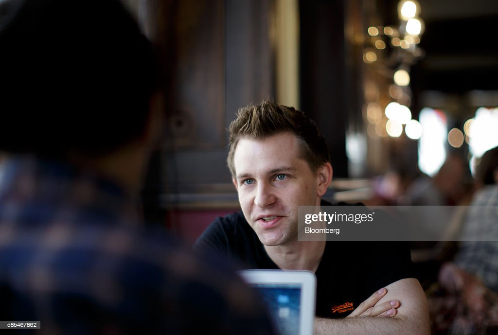 Max Schrems, Austrian law student and data-privacy activist, speaks during an interview in Vienna, Austria, on Tuesday, July 19, 2016. In 2013, when revelations about mass access to people's data by U.S. secret services broke, Schrems filed a new complaint against Facebook over its transfer of data to the U.S., where it wasn't adequately protected. Photographer: Lisi Niesner/Bloomberg via Getty Images
