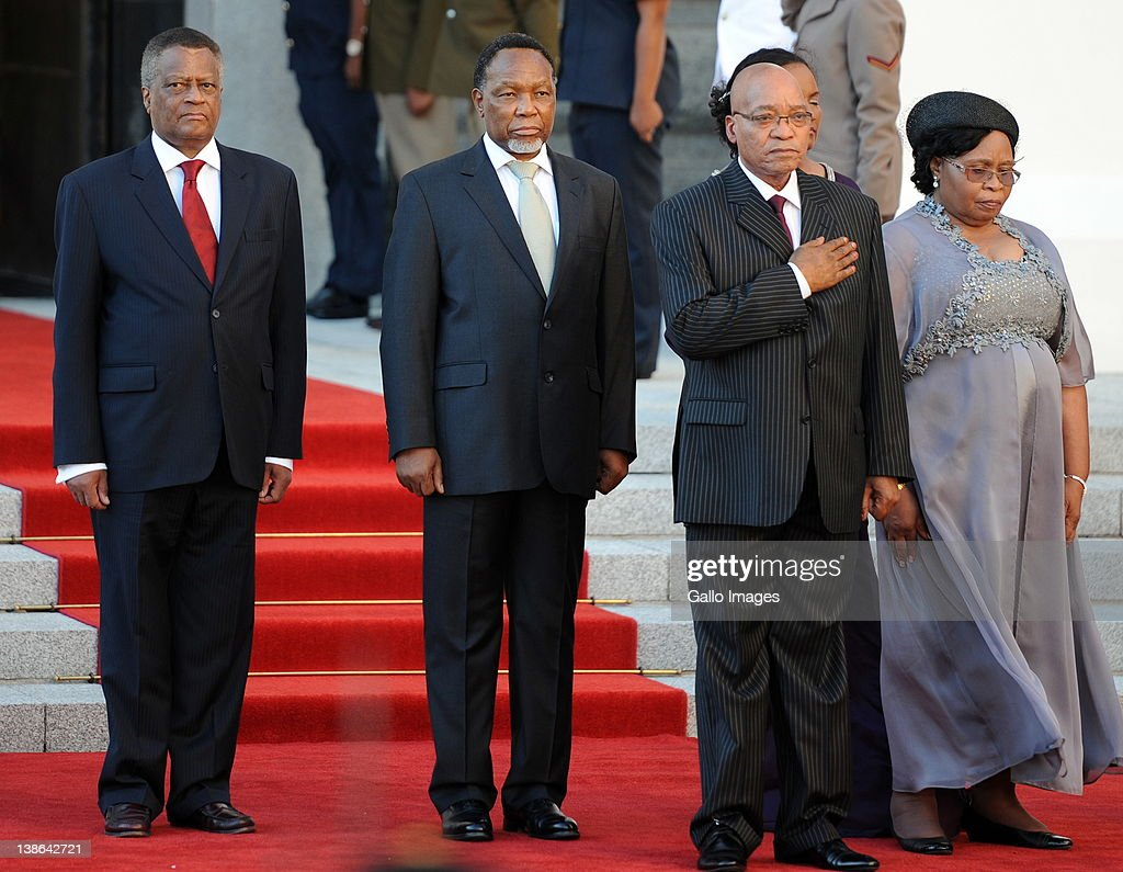 Max Sisulu, Deputy President Kgalema Motlante, President Jacob Zuma, Sizakhele Khumalo and Mninwa Mahlangu at the opening of Parliament in Cape Town, South Africa on 9 February 2012. Parliament was opened in the annual ceremony where President Jacob Zuma delivered his state of the nation address.