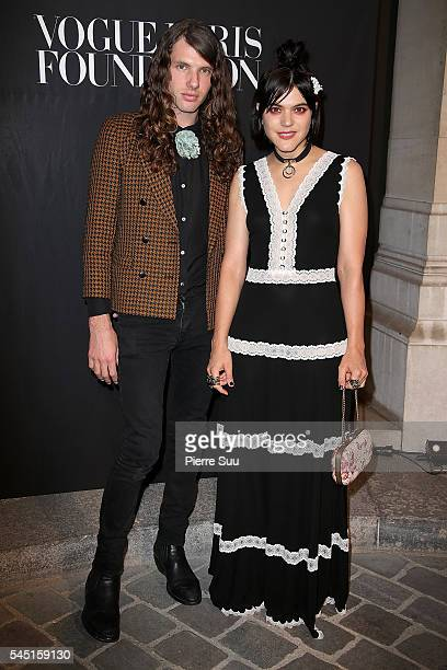 Max Sokolinsk and Soko attend the Vogue Foundation Gala 2016 at Palais Galliera on July 5 2016 in Paris France