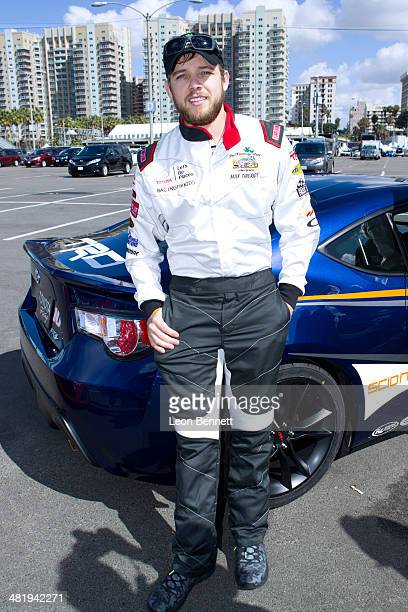Max Theriot attended the 2014 Toyota Pro/Celebrity Race Press Day on April 1 2014 in Long Beach California