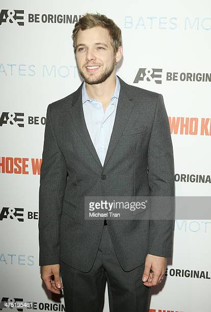 Max Thieriot arrives at the premiere party for AE's season 2 of 'Bates Motel' and series premiere of 'Those Who Kill' held at Warwick on February 26...