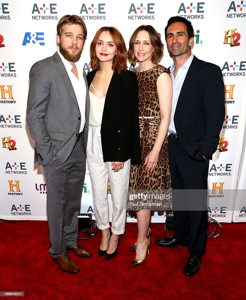 <a gi-track='captionPersonalityLinkClicked' href=/galleries/search?phrase=Max+Thieriot&family=editorial&specificpeople=2545974 ng-click='$event.stopPropagation()'>Max Thieriot</a>, <a gi-track='captionPersonalityLinkClicked' href=/galleries/search?phrase=Olivia+Cooke&family=editorial&specificpeople=10104216 ng-click='$event.stopPropagation()'>Olivia Cooke</a>, <a gi-track='captionPersonalityLinkClicked' href=/galleries/search?phrase=Vera+Farmiga&family=editorial&specificpeople=227012 ng-click='$event.stopPropagation()'>Vera Farmiga</a> and <a gi-track='captionPersonalityLinkClicked' href=/galleries/search?phrase=Nestor+Carbonell&family=editorial&specificpeople=683517 ng-click='$event.stopPropagation()'>Nestor Carbonell</a> attend the 2014 A+E Networks Upfront on May 8, 2014 in New York City