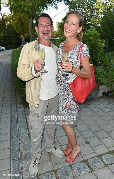 Max Tidof and Lisa Seitz during 'La Dolce Vita Grillfest' at Gruenwalder Einkehr on August 17 2016 in Munich Germany