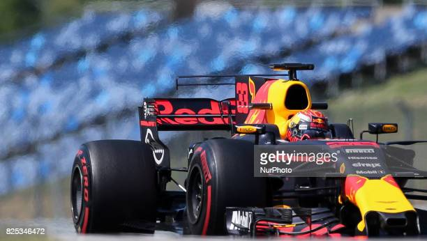 Max Verstappen during day one of F1 inseason testing at Hungaroring on August 1 2017 in Budapest Hungary