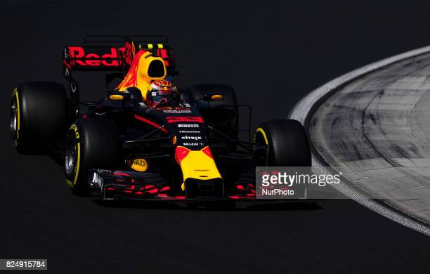 Max Verstappen of Netherland and Red Bull Racing driver goes during the race at Pirelli Hungarian Formula 1 Grand Prix on Jul 30 2017 in Mogyoród...