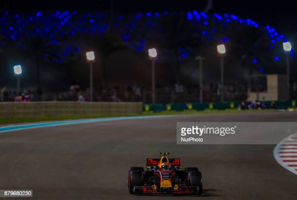 Max Verstappen of Netherland and Red Bull Racing Team driver goes during the race at Formula One Etihad Airways Abu Dhabi Grand Prix on Nov 26 2017...