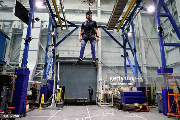 Max Verstappen of Netherlands and Red Bull Racing enjoys a trip to NASA during previews ahead of the United States Formula One Grand Prix at Space...