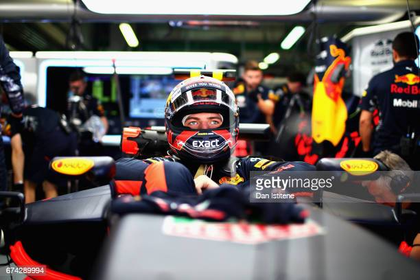 Max Verstappen of Netherlands and Red Bull Racing prepares to drive during practice for the Formula One Grand Prix of Russia on April 28 2017 in...
