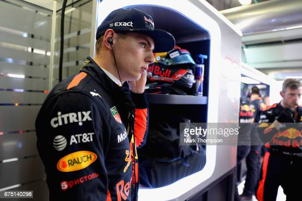 Max Verstappen of Netherlands and Red Bull Racing prepares to drive in the garage during the Formula One Grand Prix of Russia on April 30 2017 in...