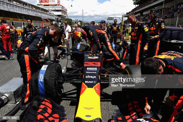 Max Verstappen of Netherlands and Red Bull Racing prepares to drive on the grid during the Spanish Formula One Grand Prix at Circuit de Catalunya on...