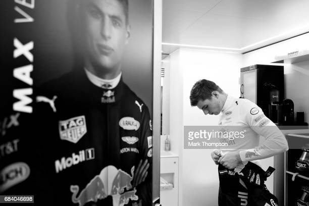 Max Verstappen of Netherlands and Red Bull Racing prepares to drive during qualifying for the Spanish Formula One Grand Prix at Circuit de Catalunya...