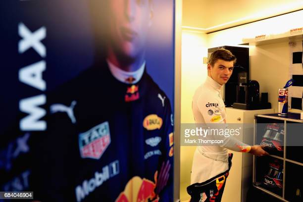 Max Verstappen of Netherlands and Red Bull Racing prepares to drive during qualiying for the Spanish Formula One Grand Prix at Circuit de Catalunya...
