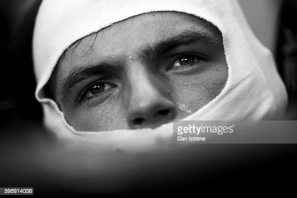 Max Verstappen of Netherlands and Red Bull Racing sits in his car in the garage during practice for the Formula One Grand Prix of Belgium at Circuit...