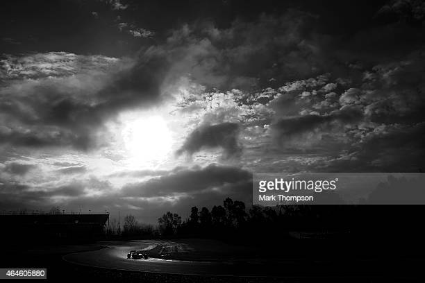 Max Verstappen of Netherlands and Scuderia Toro Rosso drives during day two of the final Formula One Winter Testing at Circuit de Catalunya on...