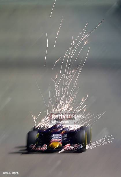 Max Verstappen of Netherlands and Scuderia Toro Rosso drives during the Formula One Grand Prix of Singapore at Marina Bay Street Circuit on September...