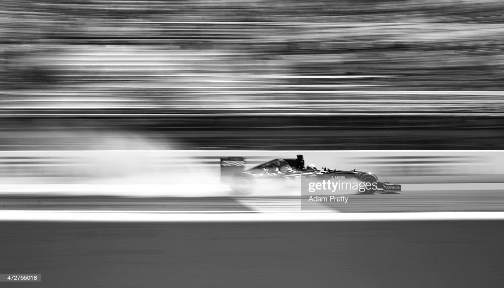 Max Verstappen of Netherlands and Scuderia Toro Rosso locks up during final practice for the Spanish Formula One Grand Prix at Circuit de Catalunya...