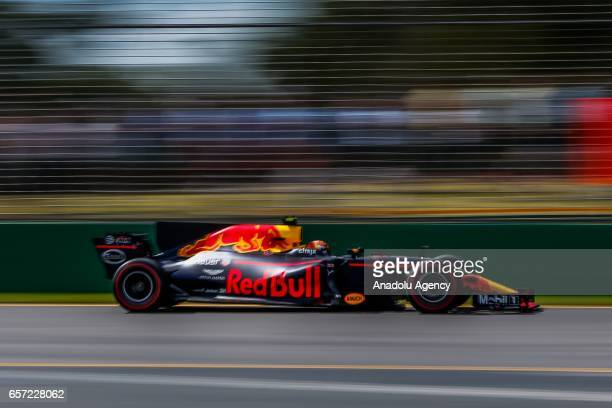Max Verstappen of Netherlands driving for Red Bull Racing on Friday Free Practice during the 2017 Rolex Australian Formula 1 Grand Prix at Albert...
