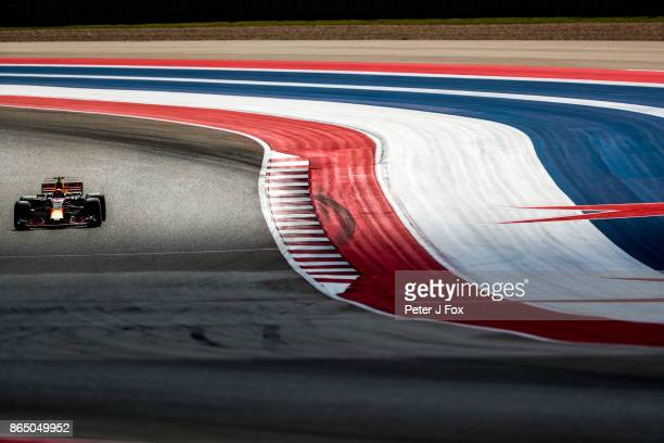 Max Verstappen of Red Bull Racing and The Netherlands during qualifying for the United States Formula One Grand Prix at Circuit of The Americas on...