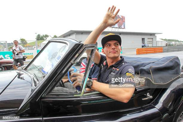 Max Verstappen of Red Bull Racing during driver's parade before the start of the race of the Formula 1 Petronas Malaysia Grand Prix held at Sepang...